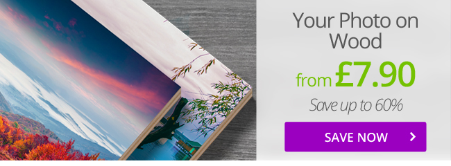 Give your home a natural radiance - Have your photo printed on wood!